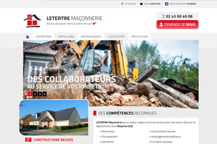 Site responsive et mobile Letertre ma�onnerie