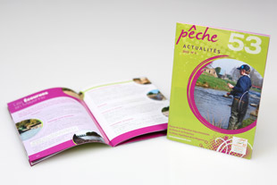 Conception de la brochure Peche 53